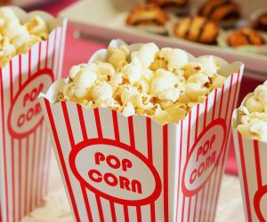 learn english listening with audio stories about popcorn at the movies