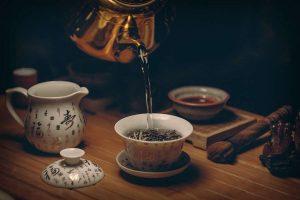 tea cup is empty